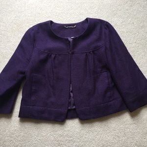 Apt. 9 bright purple blazer with pockets